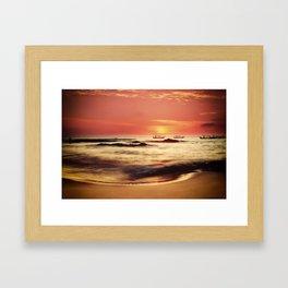 Sunset in Khao Lak Framed Art Print