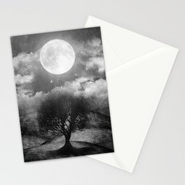 Black and white - Once upon a time... The lone tree. Stationery Cards