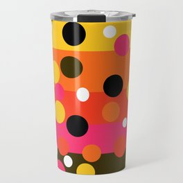 Earth and Summer Sky - Color Strips with Circles Travel Mug