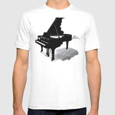 Pianist, Frédéric Chopin White Mens Fitted Tee MEDIUM