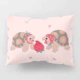 Tortoises love strawberries Pillow Sham