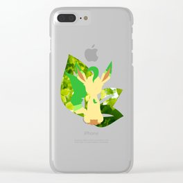 Minimal Leafeon Clear iPhone Case