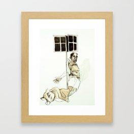 Tristan Corbière, Thick Black Trace, Piece a carreaux Framed Art Print