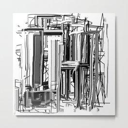 Abstract City #2 Metal Print