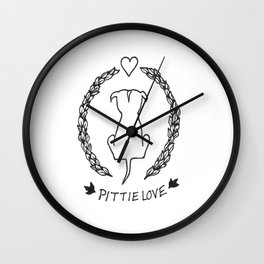Ivy Pittie Love Wall Clock