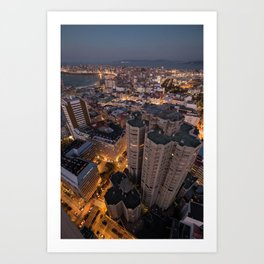 The streets are glowing Art Print