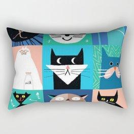 Cats, cats, kitties, kittens, abstraction, pets, friends Rectangular Pillow