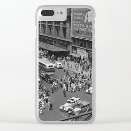New York Vintage pictures (circa 1935) Clear iPhone Case
