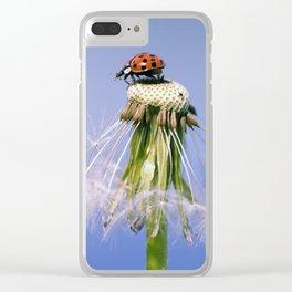 Dandelion Ladybugs Clear iPhone Case