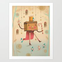 king Art Prints featuring KIng by Cristian Turdera