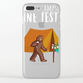 Official campsite wine tester - Bigfoot glass wine Clear iPhone Case