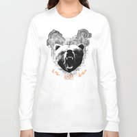medicine Long Sleeve T-shirts featuring Bear Medicine by Cree Thunder