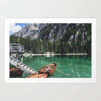 Boats at the Lake // Landscape Photography Art Print