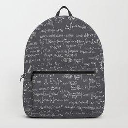 Math Equations // Charcoal Backpack