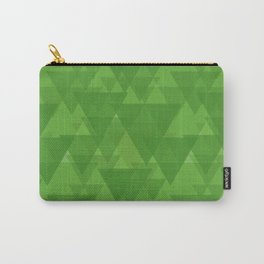 Gentle green triangles in intersection and overlay. Carry-All Pouch
