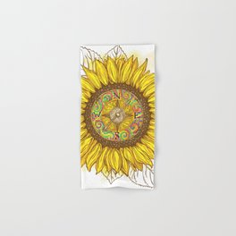 Sunflower Compass Hand & Bath Towel