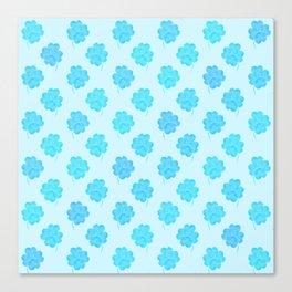 Little Blue Clover Canvas Print