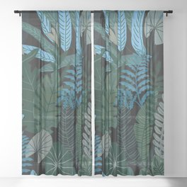 Tropical Night Sheer Curtain