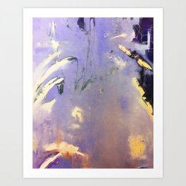 Purple Abstraction Art Print