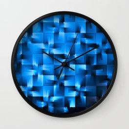 Checks of Blue Wall Clock