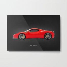 The 458 Italia Metal Print