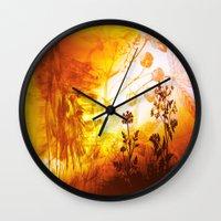 horses Wall Clocks featuring Horses by Vitta