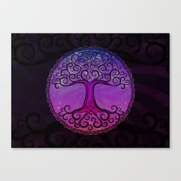 Tree of Life - Hot Pink Canvas Print