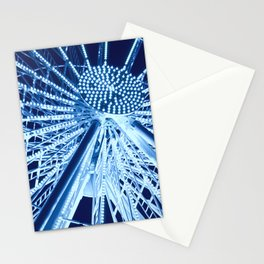 Ferris wheel in midnight blue Stationery Cards
