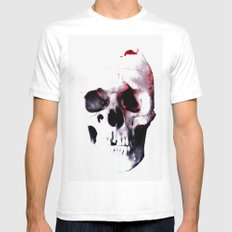 SKULL 3 White Mens Fitted Tee SMALL