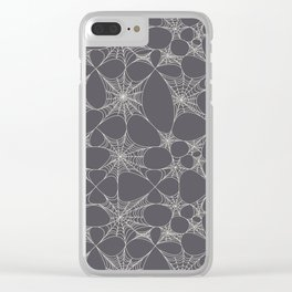 Spiderweb Pattern in Black Clear iPhone Case