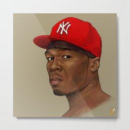 50 Cent Portrait Metal Print