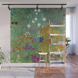 Gustav Klimt Flower Garden Floral Art Nouveau Wall Mural