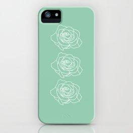 Rose Vert Claire iPhone Case