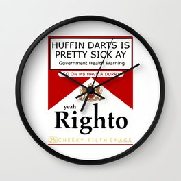 yeah Righto M8 Darts Wall Clock
