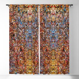 ELECTRIC 071 - Jackson Pollock style abstract design art, abstract painting Blackout Curtain