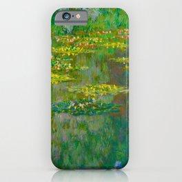 Claude Monet Impressionist Landscape Oil Painting Le Bassin des Nympheas iPhone Case