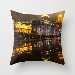Reflections // Passages in time Throw Pillow