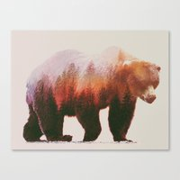 andreas preis Canvas Prints featuring Brown Bear by Andreas Lie