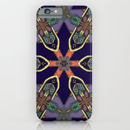 Gothic Revival Reimagined in Purple iPhone Case