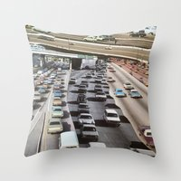 cars Throw Pillows featuring cars by danielrcart