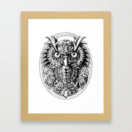 Owl Portrait Framed Art Print