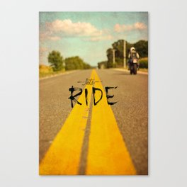 Moto Poster Canvas Print