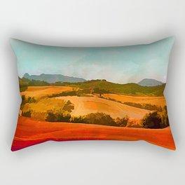 Landscape with hills Rectangular Pillow