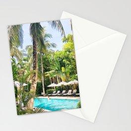 Brazilian Court Hotel pool Stationery Cards