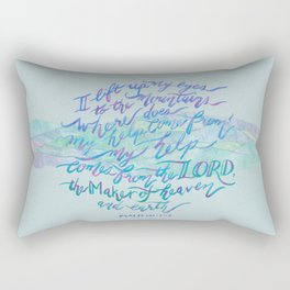 My Help Comes From The Lord - Psalm 121:1~2 Rectangular Pillow