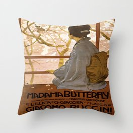 Vintage poster - Madama Butterfly Throw Pillow