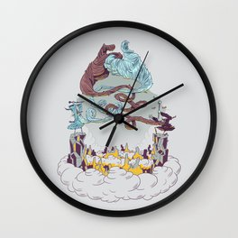 Wizard's Duel Wall Clock