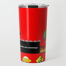 Deplorables are Lemmings Travel Mug