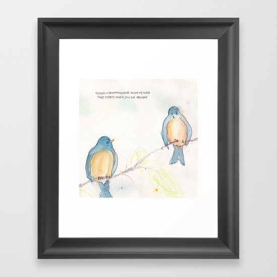 Birds and Bees Framed Art Print