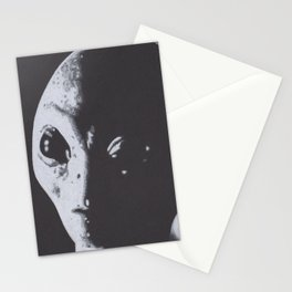 Charcoal Drawing of Alien Stationery Cards